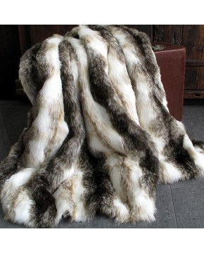 Italian Wolf Fur Throw