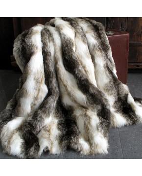 Italian Wolf Fur Throw