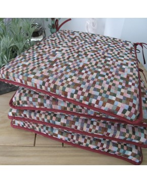 Seat Pads & Cushions, Harlequin Square Tapered Seat Pads , faux-fur-throws