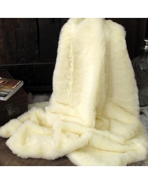 Cream Polar Bear Fur Throw