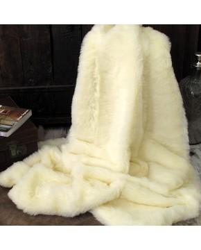 Cream Polar Bear Fur Throw