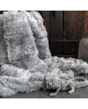 Ash Fur Throw