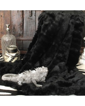 Black Panther Fur Throw