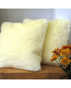 Cream Polar Bear Faux Fur Cushion