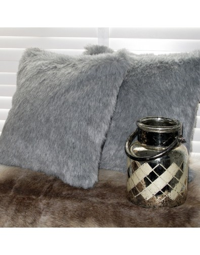Faux Fur Cushions, Ash Faux Fur Cushion , faux-fur-throws