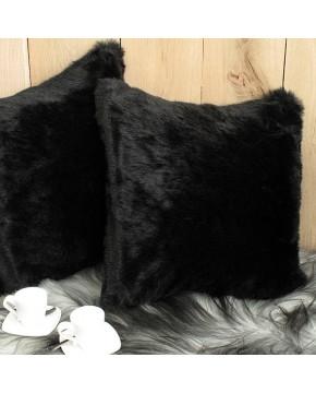 Faux Fur Cushions, Black Panther Faux Fur Cushion , faux-fur-throws
