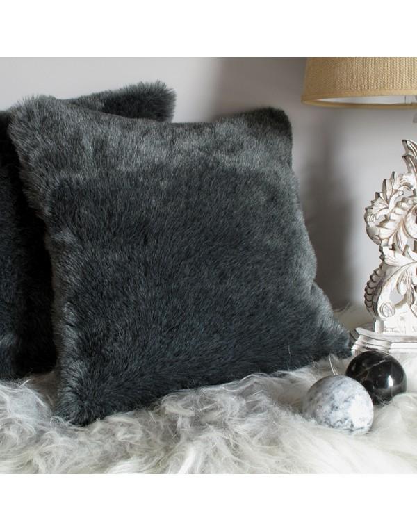 Faux Fur Cushions, Badger Faux Fur Cushion , faux-fur-throws
