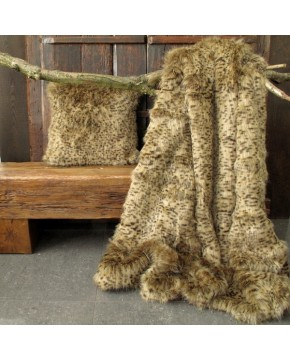 Bobcat Faux Fur Throw