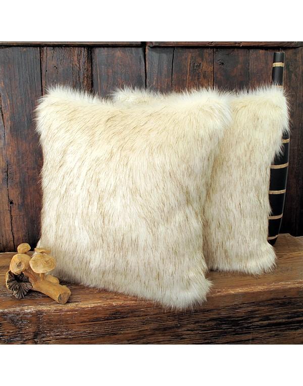 Saharan Fox Faux Fur Cushion