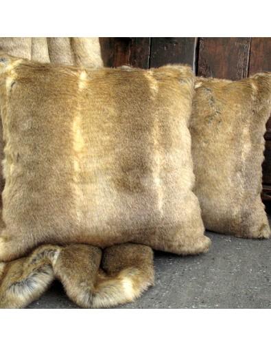 Caracal Faux Fur Cushion