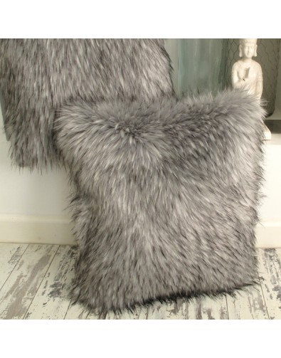 Warwick Grey Faux Fur Cushion