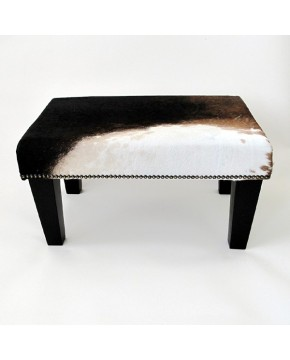 Cowhide Footstools, small tri-coloured Cowhide Foot stool 209