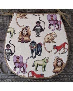 Tapestry Monkeys Classic D Seat Pads