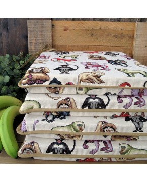 Tapestry Monkeys Square Seat Pads