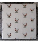 Small Pheasants Reversible Square Seat Pads
