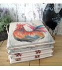 Rooster reversible square seat pads