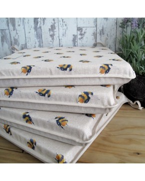 Small Bees Reversible Square Seat Pads
