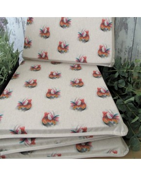 Small Roosters reversible tapered seat pads