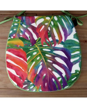 Tropical Leaves classic D seat pads