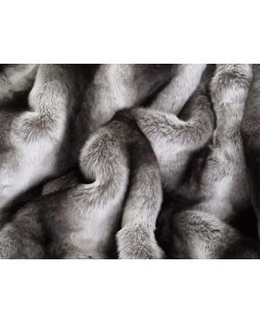 Striped Chinchilla faux fur throw