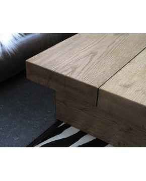 Medium 2 Board Solid Oak Coffee Table