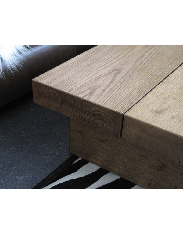 Medium 2 Board Solid Oak Coffee Table