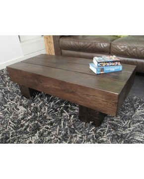 Oak Coffee Tables, Dark Oak Coffee Table 3 Beam , faux-fur-throws