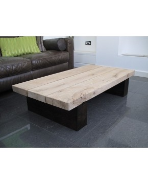 Two Tone 3 Board Solid Oak Coffee Table