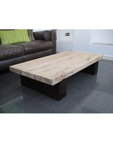 Oak Coffee Tables, Two Tone 3 Board Solid Oak Coffee Table , faux-fur-throws