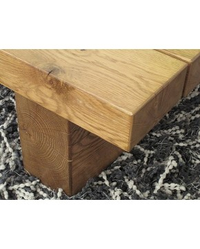Oak Coffee Tables, Slim 3 Beam Solid Medium Oak Table , faux-fur-throws