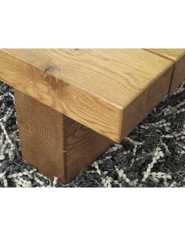 Slim 3 Beam Solid Medium Oak Table