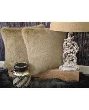 Desert Fox Faux Fur Cushion