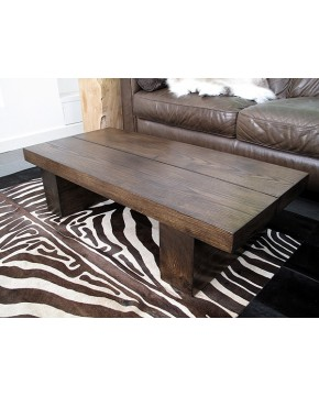 Oak Coffee Tables, Dark 2 Board Solid Oak Coffee Table , faux-fur-throws