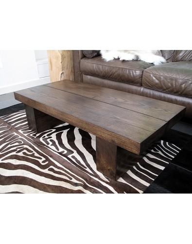 Dark 2 Board Solid Oak Coffee Table