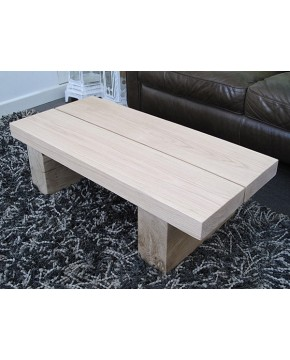 Light 2 Board Solid Oak Coffee Table