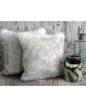 Faux Fur Cushions, Arctic Fox Faux Fur Cushion , faux-fur-throws