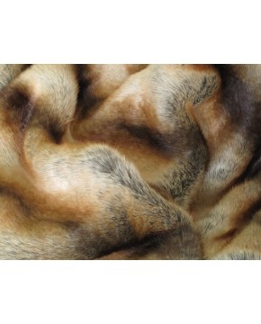 Gold Brown Chinchilla  Fur Throw