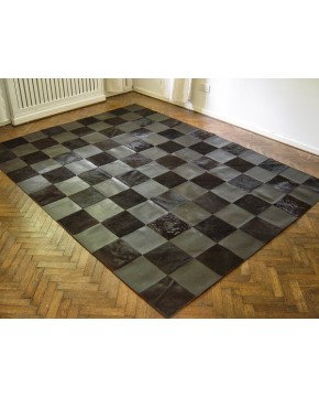 Patchwork Cowhide Rugs, Black Cowhide & Leather Patchwork Rug 449 , faux-fur-throws