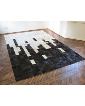 Patchwork Cowhide Rugs, Black & White Random Patchwork Cowhide Rug 440 , faux-fur-throws