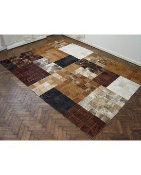 Retro Patchwork Cowhide Rug 506