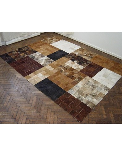 Patchwork Cowhide Rugs, Retro Patchwork Cowhide Rug 506 , faux-fur-throws