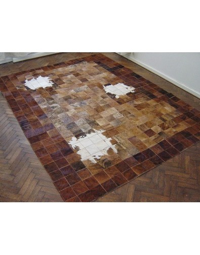 Patchwork Cowhide Rugs, Patchwork Cowhide Rug White Highlights X035 , faux-fur-throws