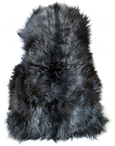 Sheepskin Rugs, Dark Grey Icelandic Sheepskin Rug 0121 , faux-fur-throws