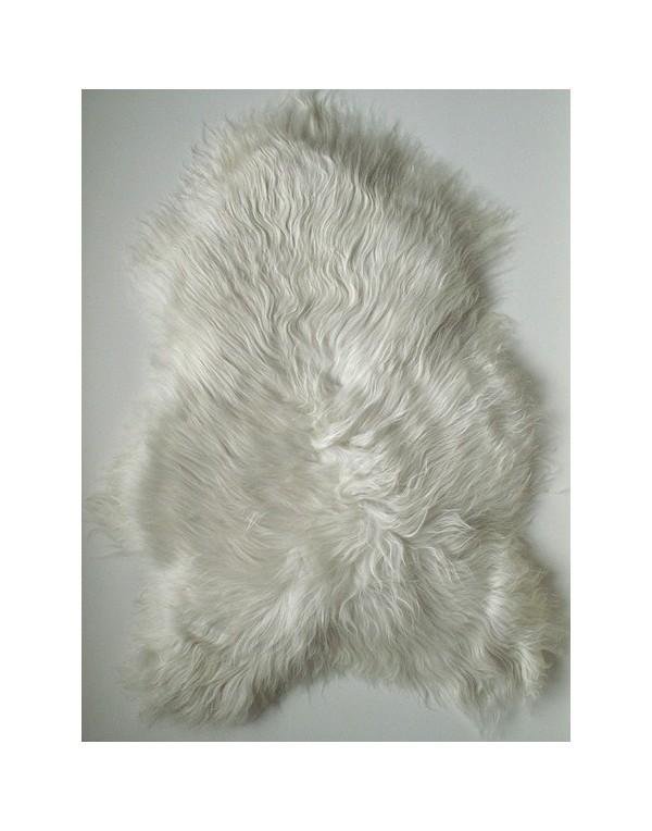 Ivory White Icelandic Sheepskin Rug 0120