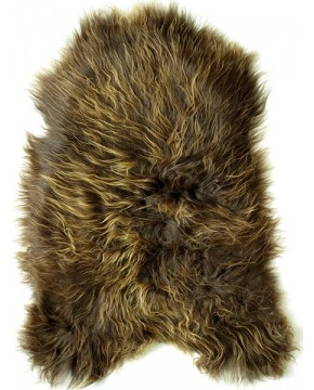 Sheepskin Rugs, Rusty Brown Icelandic Sheepskin Rug 0107 , faux-fur-throws