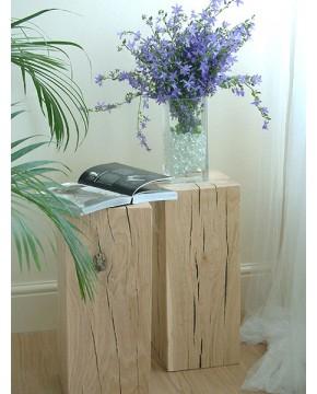 Oak Side Tables, Light Solid Oak Side Table , faux-fur-throws