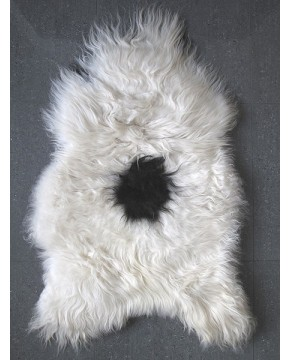 Sheepskin Rugs, Black & White Icelandic Sheepskin Rug 0138 , faux-fur-throws