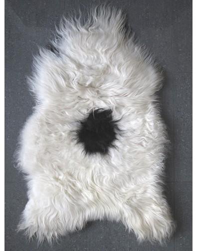 Black & White Icelandic Sheepskin Rug 0138