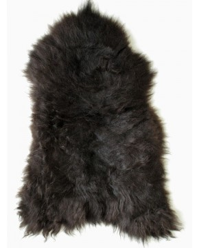 Black Brown Icelandic Sheepskin Rug 0139
