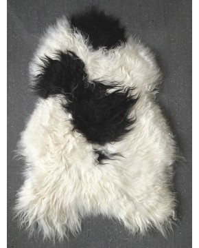 Sheepskin Rugs, Black & White Icelandic Sheepskin Rug 0137 , faux-fur-throws